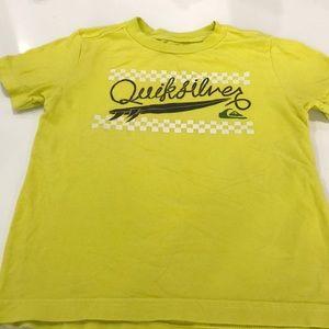 Quiksilver yellow green tee